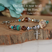 IN-185  The Lord is near to all who call on Him Bracelet