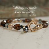 IN-189  Great Fall colors Mark 9:23 Bracelet