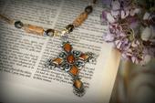 IN-496 Beaded Cross Necklace