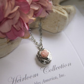 RH-57  Locket with Sweetest Pink Rose, always a Top Seller Collection