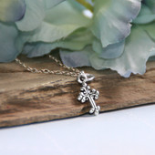 STG-122  Sterling Silver Top Selling Cross Necklace