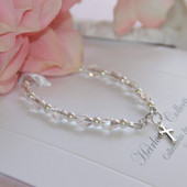 "STG-146CR Crystals and Pearls 5"" a Favorite Bracelet! Sterling Silver"