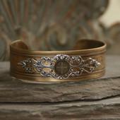 ART-157  St. Benedict Vintage Style Cuff Bracelet