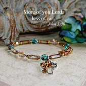 IN-199  More of you Lord, less of me Bracelet