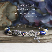 IN-194  The Lord stood with me and Strenghtened me Bracelet