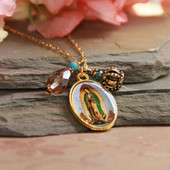 IN-599  Artwork Lady of Guadalupe Necklace