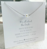DA-5 Gorgeous Swarovski Crystal AB All about the Dash Necklace