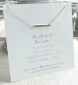 DA-9G  Golden Bar All about the Dash Necklace