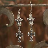 IN-79  Cross and Crown Fabulous Earrings