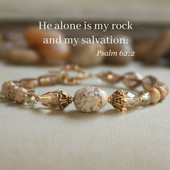 IN-561  You alone are My Rock Bracelet