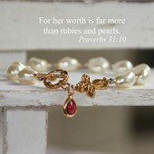 IN-382  Her Worth more than Rubies and Pearls Proverbs 31:10
