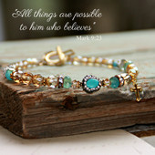 IN-387  All Things are Possible Mutli tone Beautiful Bracelet