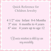 Sizing Chart for Childrens Jewelry