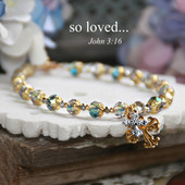 IN-152  Beautiful so loved...beaded Bracelet