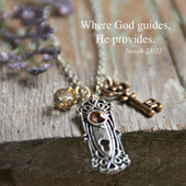 IN-572  When God Guides he opens doors for us Necklace