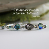 IN-265  Swarovski Crystal Montana Blue Bracelet