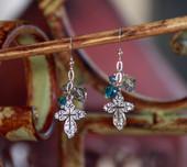 IN-27  Swarovski Crystal in Style Earrings Blue