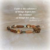 IN-312  Faith Beaded Bracelet