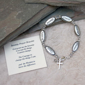 IN-311  Serenity Prayer Bracelet 7""