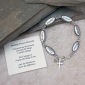 """IN-311-8  Serenity Prayer Bracelet 8"""" Plus Size"""