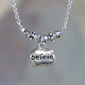 IN-248  Believe Pendant Necklace