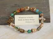 IN-293  Whatever is Lovely Bracelet