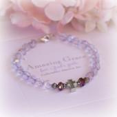 GG-14  Amazing Grace Lilac Crystal Bracelet