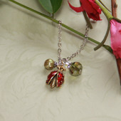 DD-11  Ladybug charm Necklace from Daydreams Collection