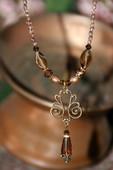 NCK-203  Swirl Vintage style Necklace