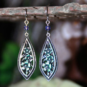 FER-390  Teardrop Floral Earrings