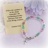 """CJ-475  Rainbow Bracelet 6"""" size"""
