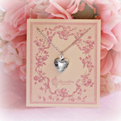 RH-14  Medium Heart Locket Rhodium