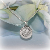STG-223  Confirmation Sterling Silver Medal Necklace