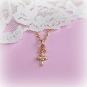 CJ-355  Ballerina Necklace with Tiny Pearls