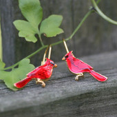 EN-2  Cardinal Earrings