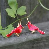 EN-2  Cardinal Earrings