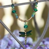 NCK-196 Enamel Dragonfly Necklace