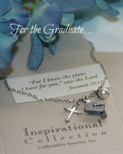 IN-500 Jeremiah 29:11 Graduate Charm Necklace
