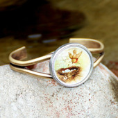 ART-124 Bird and Nest Vintage Style Cuff Bracelet