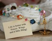 IN-230 Prayer, Wings & Bling bracelet