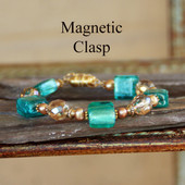 MG-10 Magnetic Clasp Bracelet Beautiful Aqua