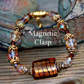 MG-12 Magnetic Clasp Bracelet Beautiful Brown