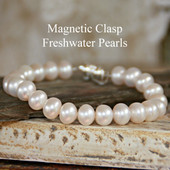 MG-14 Magnetic Clasp Bracelet Freshwater Pearls