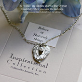 IN-412 Angel Wings Necklace Believe in Heavenly things.