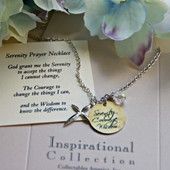 IN-486CH Serenity Prayer Charm Necklace