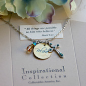 IN-487 Believe Charm Necklace with great colors our customer love!