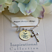 IN-489 Prayer Changes Things Charm Necklace