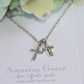 GG-32 Amazing Grace 2 crosses, one with Bling!