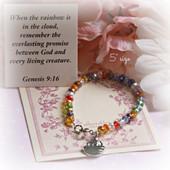 """CJ-342 Rainbow  Noah Crystal 5"""" Bracelet"""