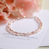 "CJ-461-6 Sophisticated Pale Pink Crystals Oh so Sweet! 6"" bracelet"